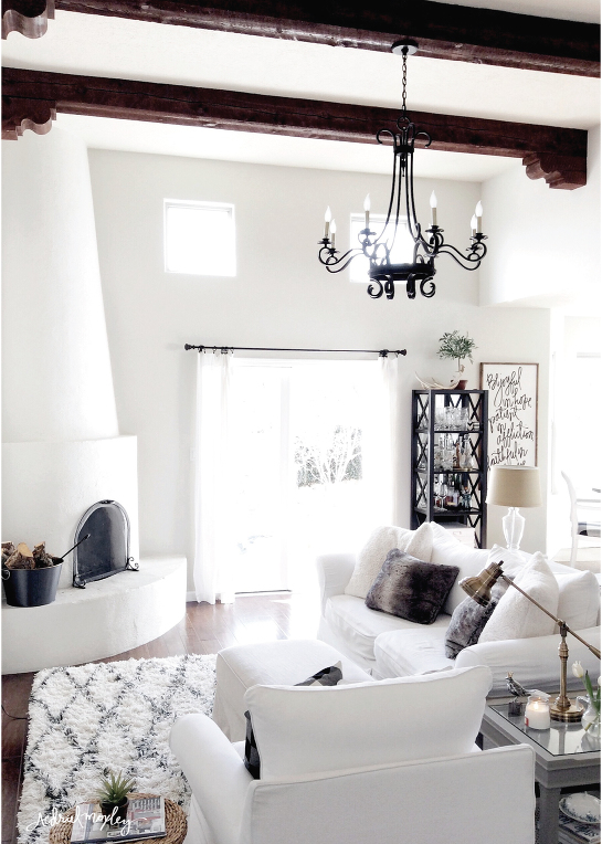 Before & After Aedriel Moxley House Tour : Living Room