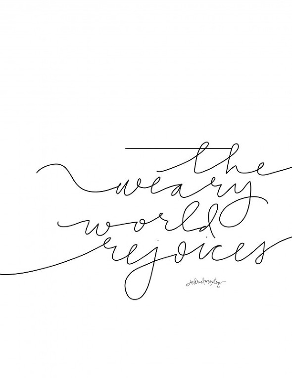 The Weary World Rejoices Free Printable by Aedriel Moxley