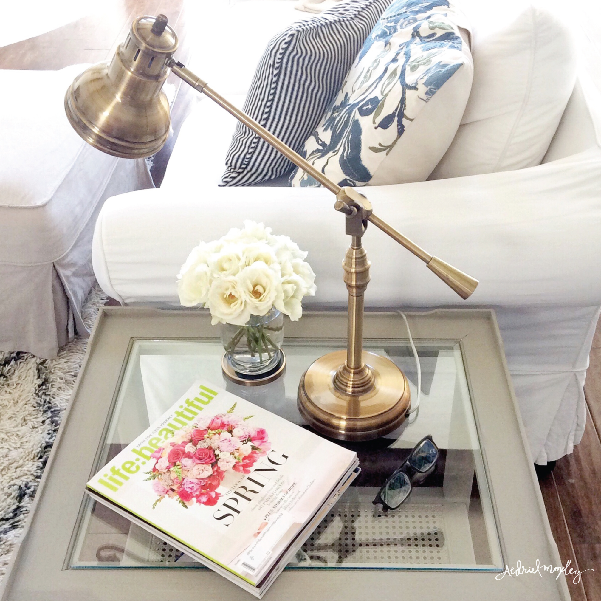 Before & After Aedriel Moxley House Tour : Living Room Details Annie Sloan Chalk Paint  French Linen