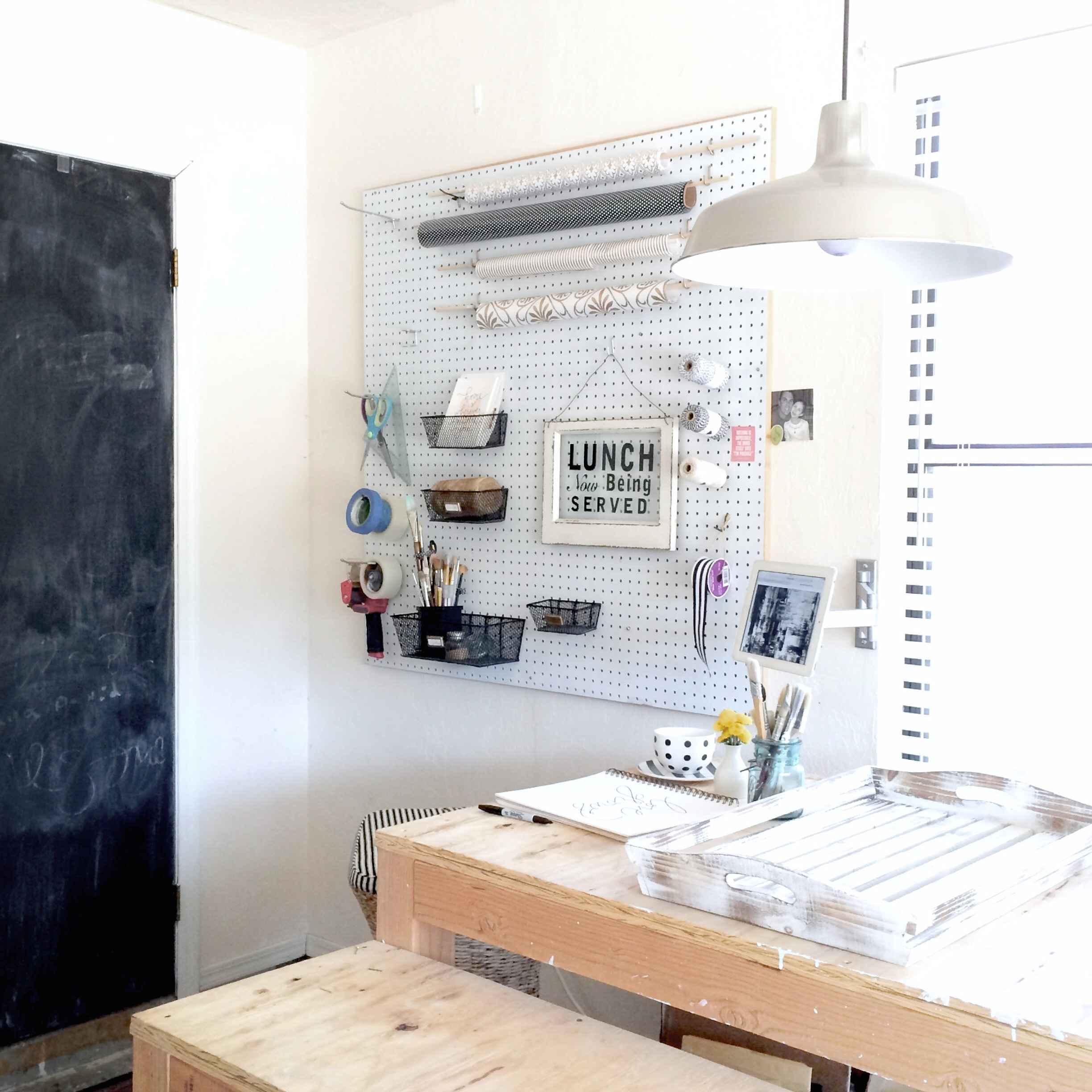Before & After Aedriel Moxley House Tour : Studio Tour (the little corner in the garage)