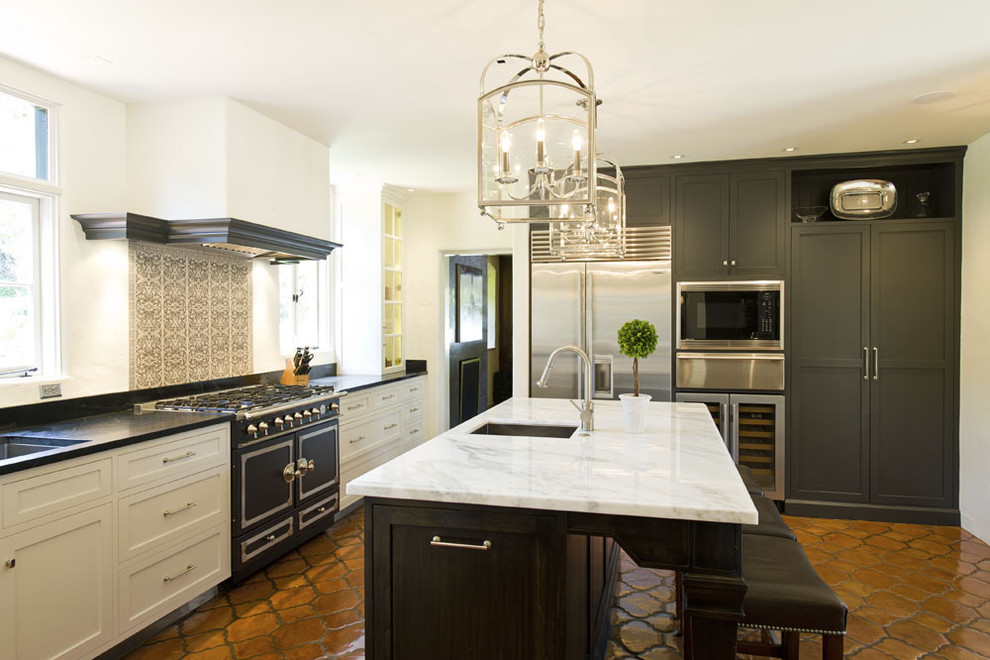 Spanish inspired kitchens signature style distinctive for Santa barbara kitchens