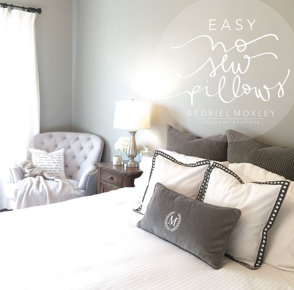 EASY NO SEW PILLOWS : DIY HOW-TO